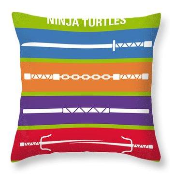 No346 My Teenage Mutant Ninja Turtles Minimal Movie Poster Throw Pillow