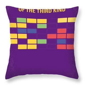 No353 My Encounters Of The Third Kind Minimal Movie Poster Throw Pillow