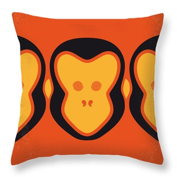 No355 My 12 Monkeys Minimal Movie Poster Throw Pillow