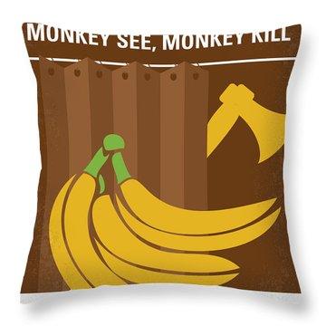 No356 My Serial Ape-ist Minimal Movie Poster Throw Pillow