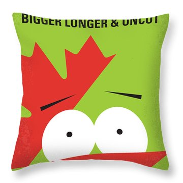 No364 My Bigger Longer Uncut Minimal Movie Poster Throw Pillow
