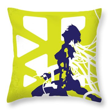 No366 My Ghost In The Shell Minimal Movie Poster Throw Pillow