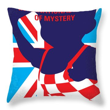 No373 My Austin Powers I Minimal Movie Poster Throw Pillow by Chungkong Art