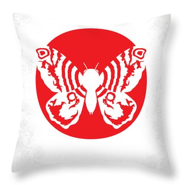 No391 My Mothra Minimal Movie Poster Throw Pillow