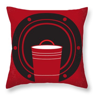No393 My Project X Minimal Movie Poster Throw Pillow
