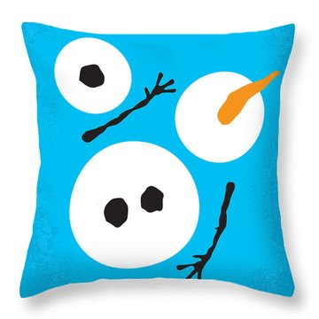 No396 My Frozen Minimal Movie Poster Throw Pillow by Chungkong Art