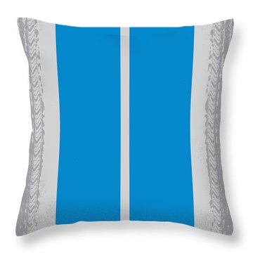 No407 My Need For Speed Minimal Movie Poster Throw Pillow