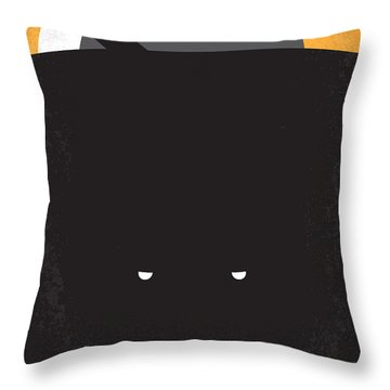No409 My Pitch Black Minimal Movie Poster Throw Pillow