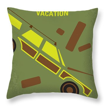 No412 My National Lampoons Vacation Minimal Movie Poster Throw Pillow