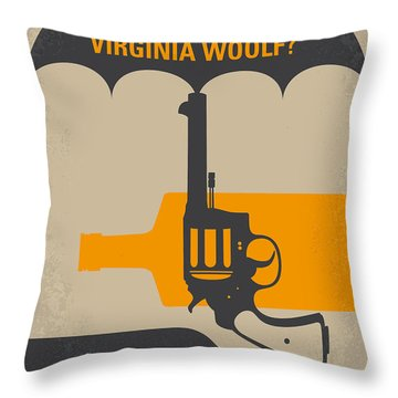 No426 My Whos Afraid Of Virginia Woolf Minimal Movie Poster Throw Pillow by Chungkong Art