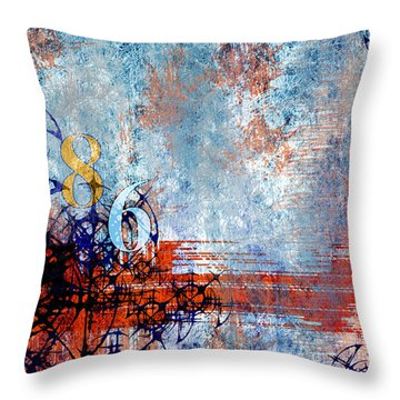 No.86 Throw Pillow by Rebecca Davis