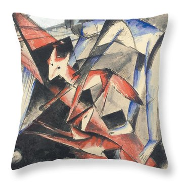 Noah And The Fox Throw Pillow by Franz Marc