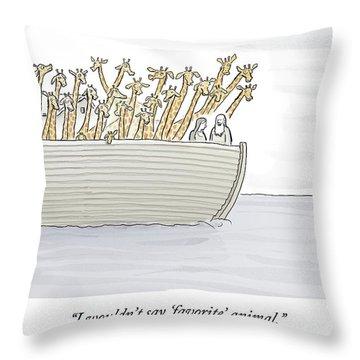 Noahs Ark Throw Pillows