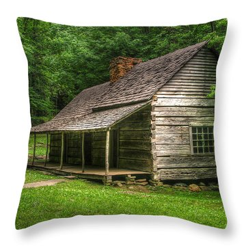Noah Ogle Cabin Throw Pillow