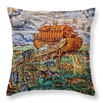 Throw Pillow featuring the photograph Noah's Ark by Nigel Fletcher-Jones