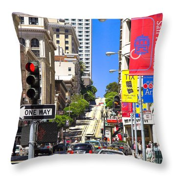 Nob Hill - San Francisco Throw Pillow