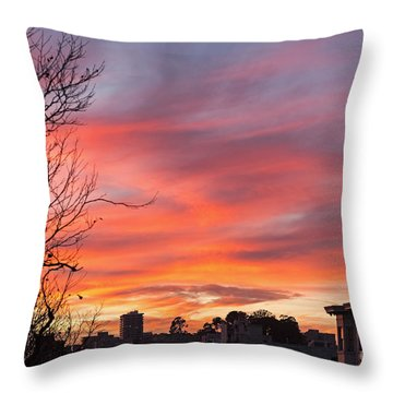 Nob Hill Sunset Throw Pillow