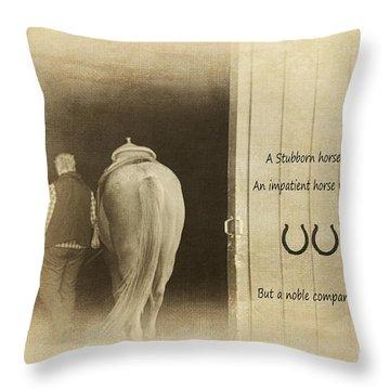 Noble Companion Throw Pillow