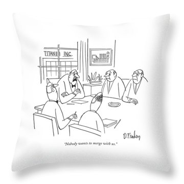 Nobody Wants To Merge With Us Throw Pillow