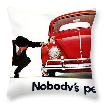 Nobodys Perfect - Volkswagen Beetle Ad Throw Pillow
