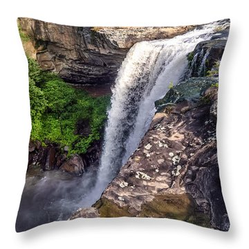 Noccalula Falls  Throw Pillow