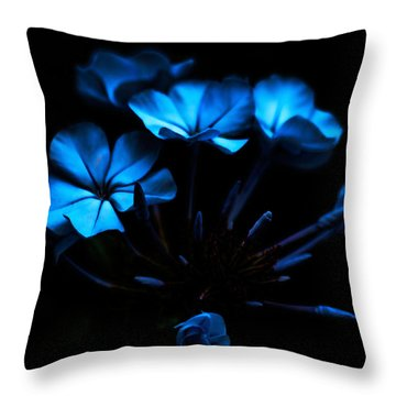 Nocturnal Blue Throw Pillow