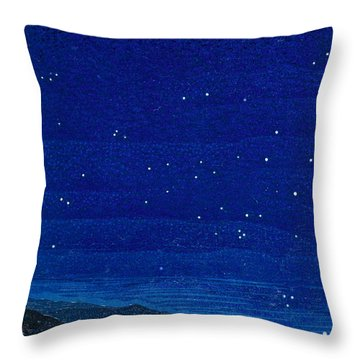 Nocturnal Landscape Throw Pillow by Francois-Louis Schmied
