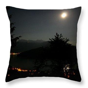 Nocturne In Switzerland Throw Pillow