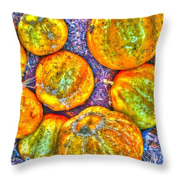 Noisy Lemon Cucumbers Throw Pillow