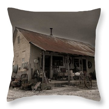 Noland Country Store Throw Pillow by William Fields