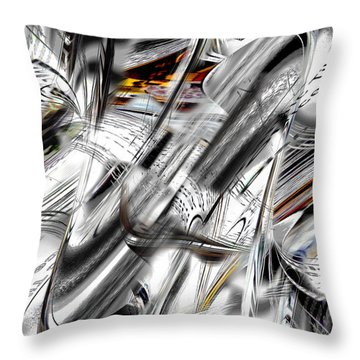 Throw Pillow featuring the digital art Nonobjective Words by rd Erickson
