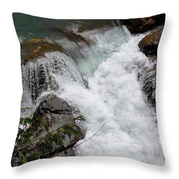 Nooksack Falls Throw Pillow