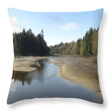 Throw Pillow featuring the photograph Noon At Woodard Bay Wa by I'ina Van Lawick