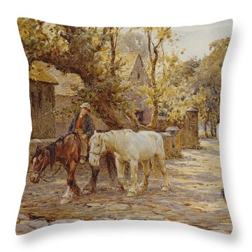 Noon Day  Throw Pillow by Joseph Harold Swanwick