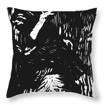 Noonday Thirst Throw Pillow by Seth Weaver