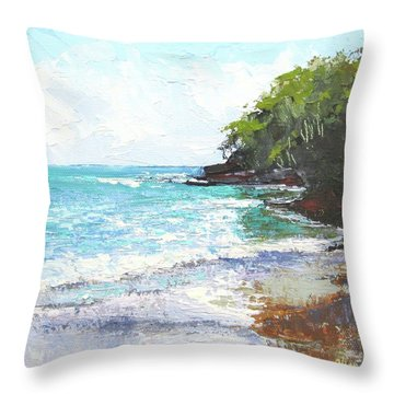 Noosa Heads Main Beach Queensland Australia Throw Pillow