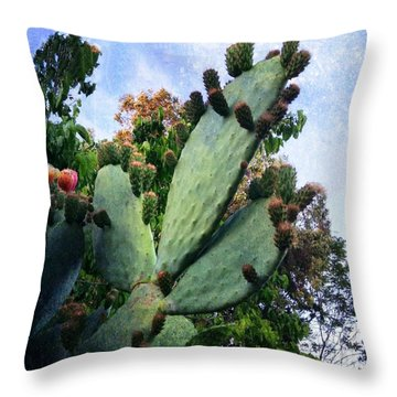 Nopales Cactus Throw Pillow