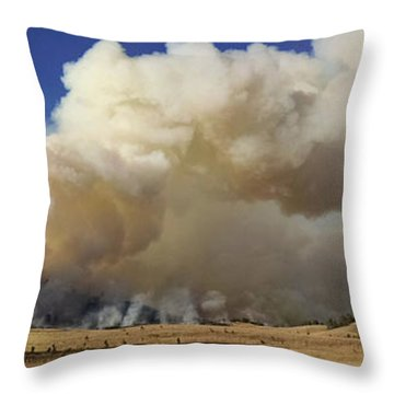 Norbeck Prescribed Fire Smoke Column Throw Pillow