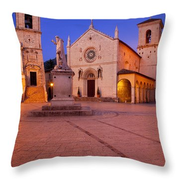 Norcia Umbria Throw Pillow by Brian Jannsen