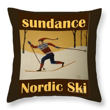 Nord Ski Poster Throw Pillow