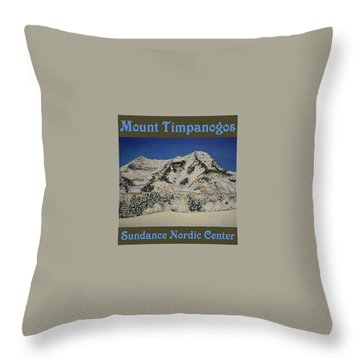 Nordic Timpanogos Poster Throw Pillow
