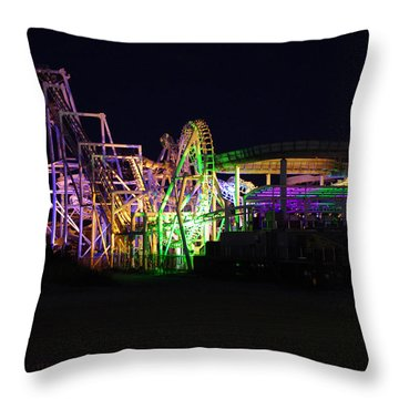 Throw Pillow featuring the photograph Nor'easter At Night by Greg Graham