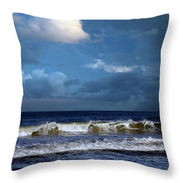 Nor'easter Blowin' In Throw Pillow