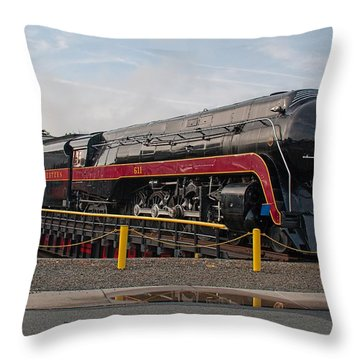 Norfolk And Western Class-j 611 Throw Pillow