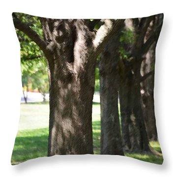 Throw Pillow featuring the painting Norfolk Botanical Garden 4 by Lanjee Chee