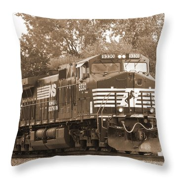 Norfolk Southern Freight Train Throw Pillow