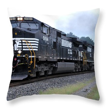 Norfolk Southern Pig Train Throw Pillow