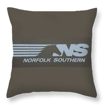 Norfolk Southern Railway Art Throw Pillow