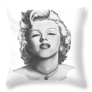 Norma Jeane Throw Pillow