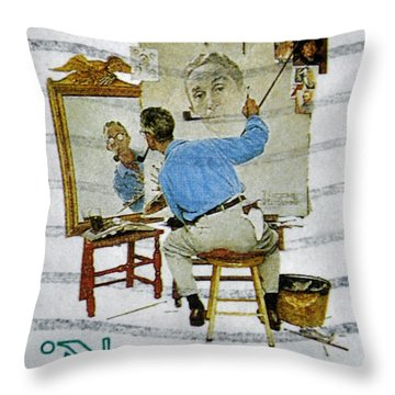 Norman Rockwell Throw Pillow